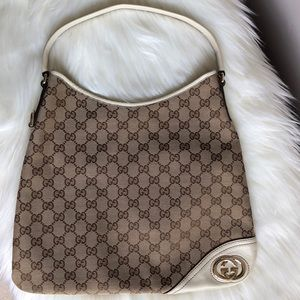 GUCCI New Britt Monogram Canvas Bag Made in Italy